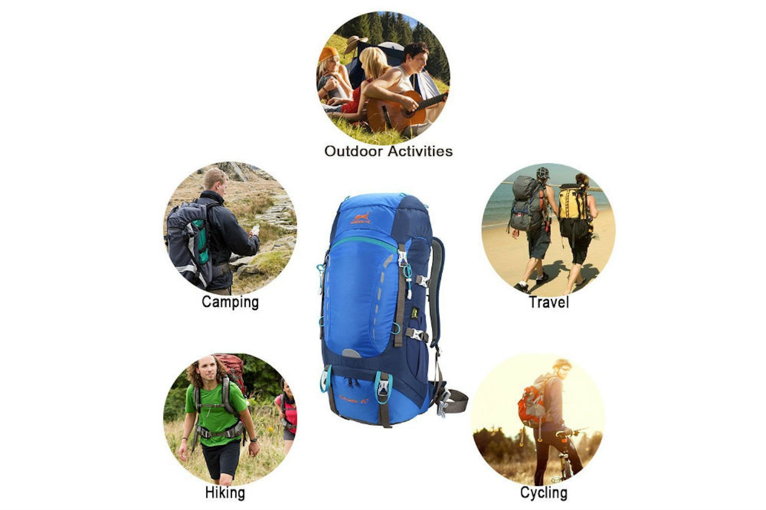 Ameiseye 40L hiking backpack