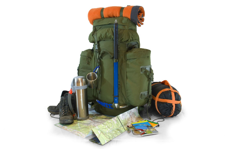 Various hiking gear