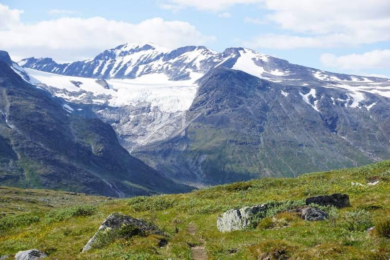 Jotunheimen national park and Galdhøpiggen mountains in Norway