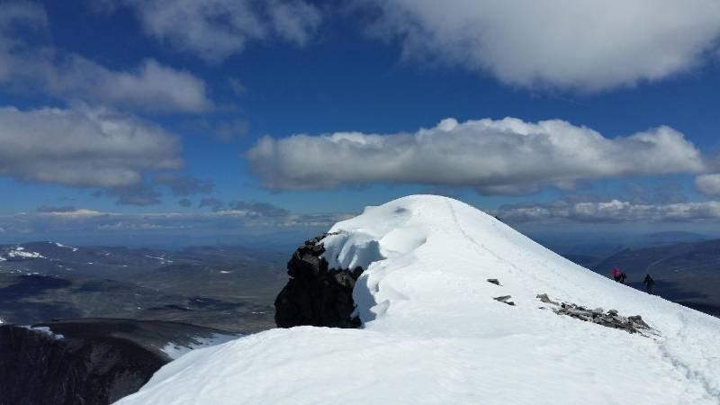 Glittertind peak in Norway. The second tallest mountain.