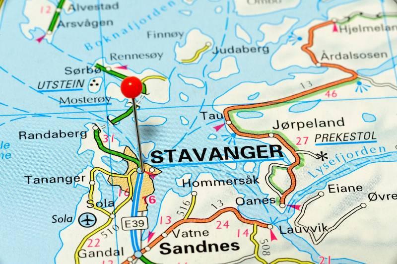 Map of Stavanger