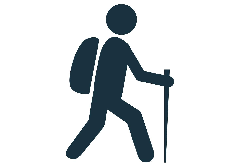 hiking person icon