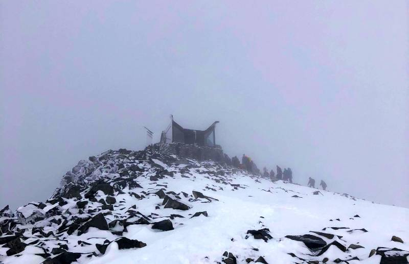 Galdhopiggen hike in Norway